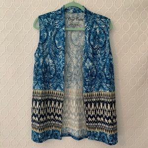 ONQUE CASUALS  Sleeveless Open Cardigan